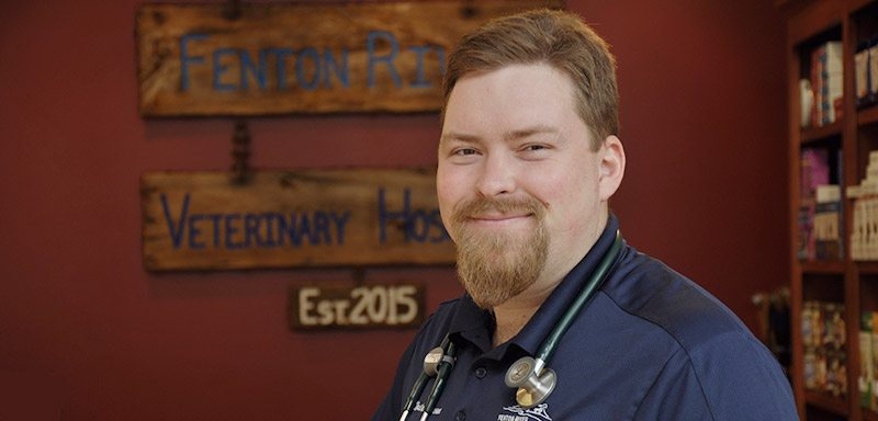 Dr. Weston Brown of Fenton River Veterinary Hospital